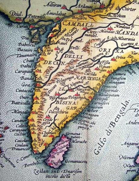 India Map 1600 AD