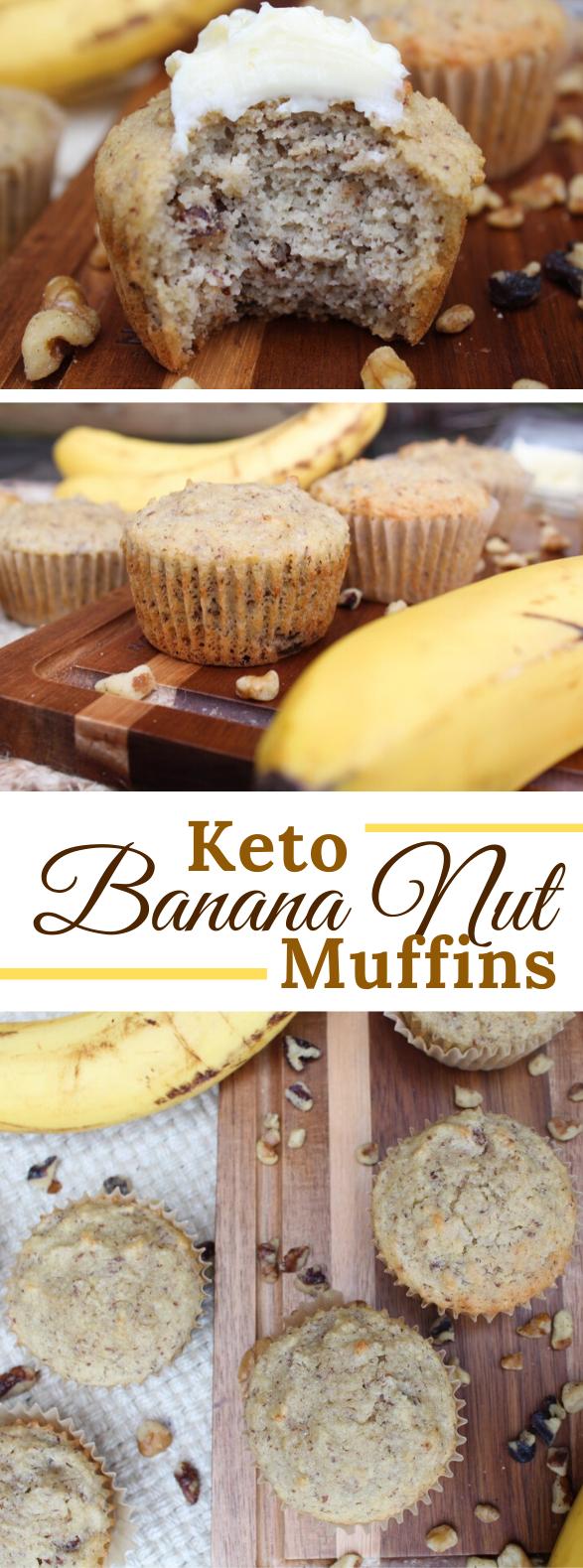 KETO BANANA NUT MUFFINS #healthydessert #diet