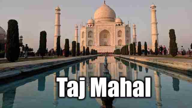 This is Image of taj mahal used for english essay on a Taj Mahal