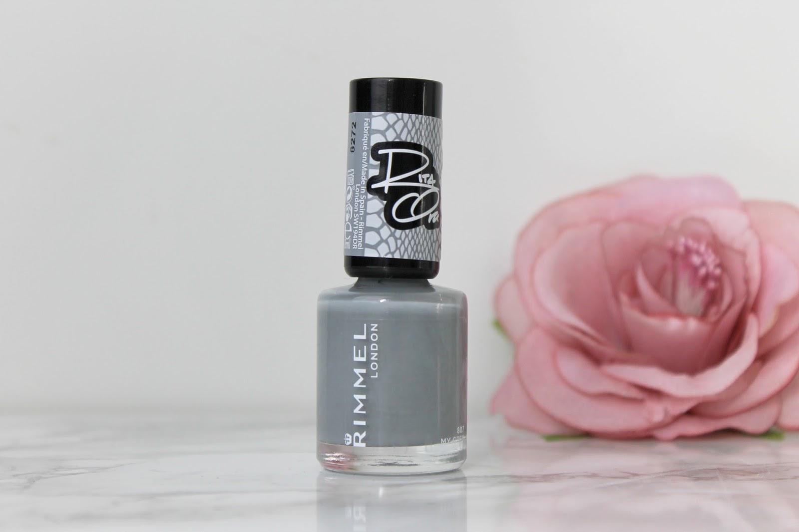 Rimmel x rita ora 60 seconds nagellak elegantic - Grijze kleur donkerder ...