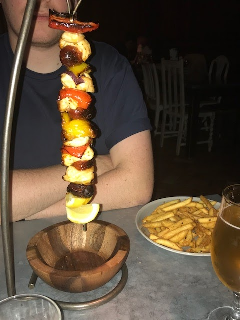 Chicken and Chorizo Hanging Kebab