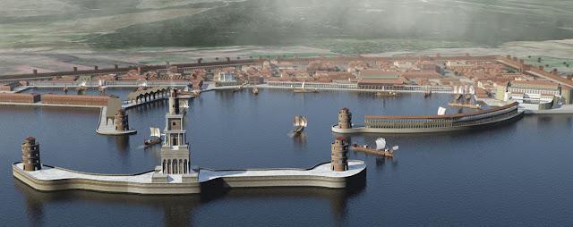 Puerto comercial y Derecho de la antigua Roma