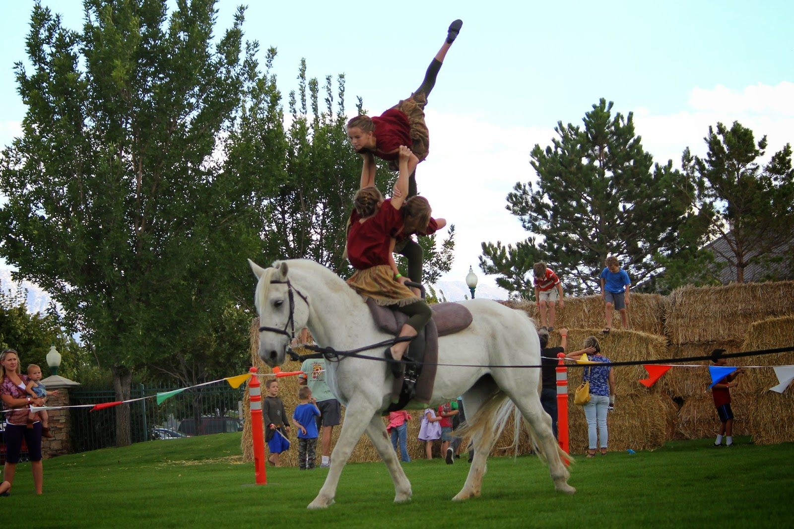 Technique Equestrian Vaulting Club Utah Renaissance Fair