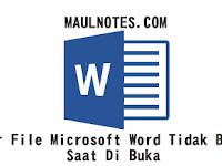 Tips Agar File Microsoft Word Tidak Berantakan Saat Di Buka