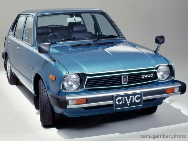 Honda Civic 1977 1st Gen 5-door Blue