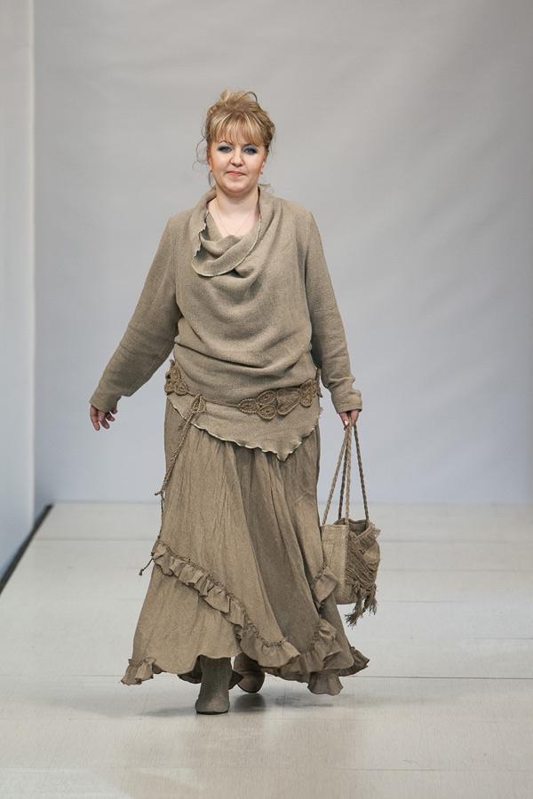 Вязание в стиле бохо для полных женщин 809