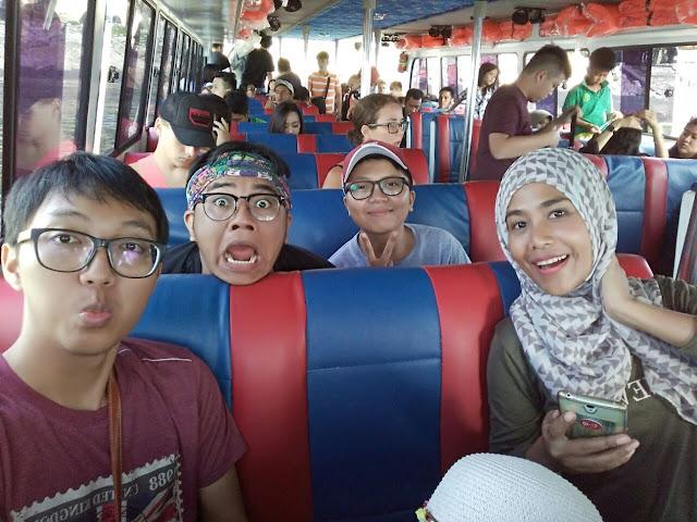 Naik fast boat ke Nusa Penida, Bali