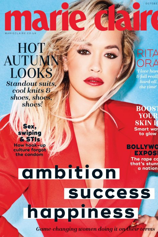 Rita Ora on the Cover of Marie Claire Magazine, UK October 2019