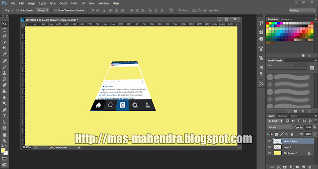 Cara Membuat Out Of Frame di Photoshop CS6 Lengkap Tutorial