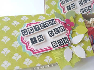 Stoffpapier - Ostern - Box - Verpackung - Goodie - Stampin Up - Limette