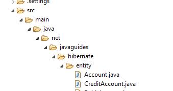 Hibernate/JPA Table Per Class Inheritance Example