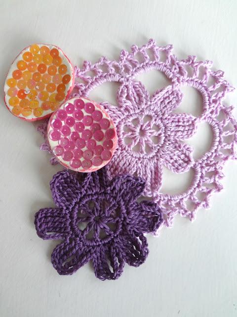 Crochet Flower Motif Doily – how to read crochet charts