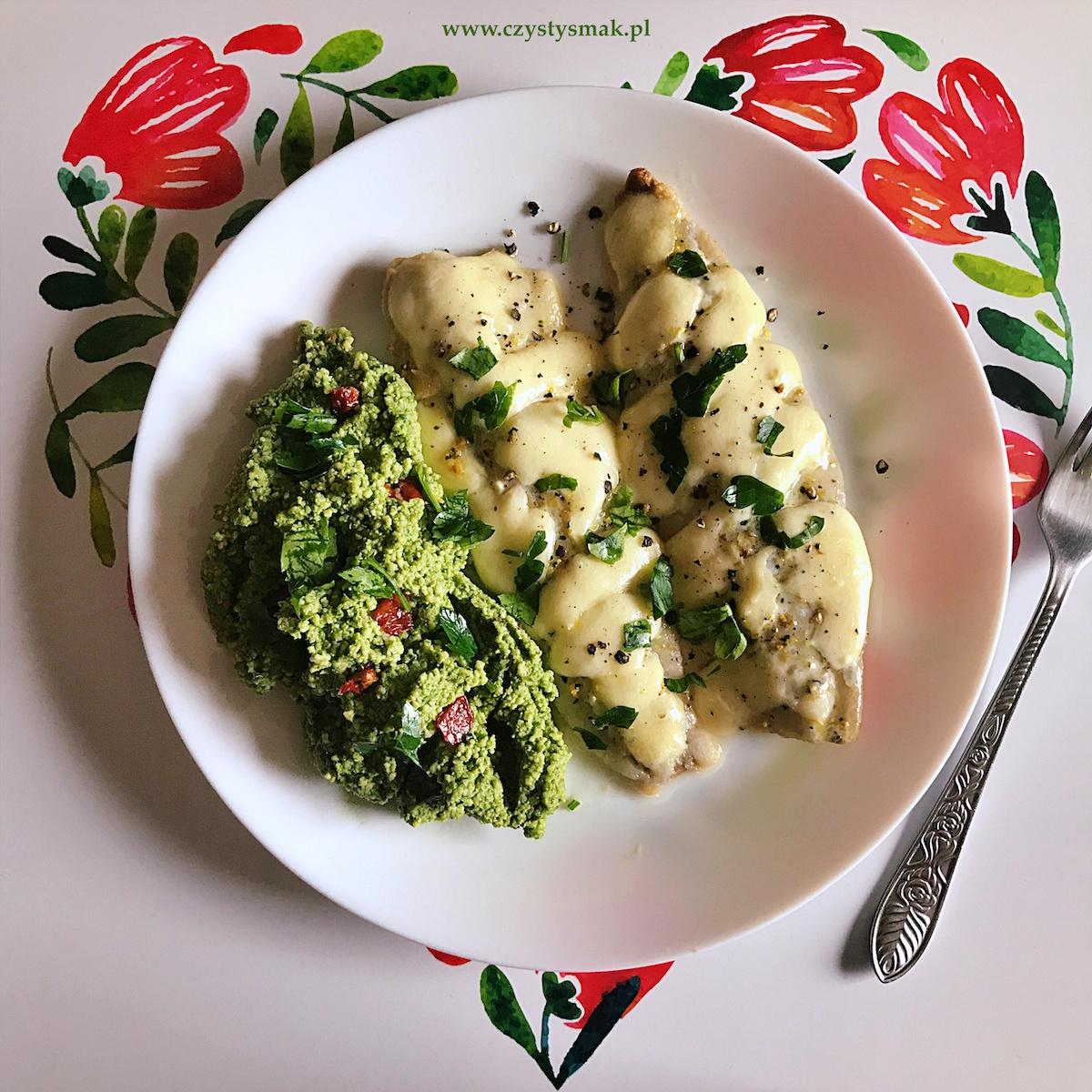 Filety śledziowe pieczone z mozzarellą