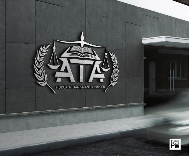 hukuk bürosu avukatlık logo tasarımı lüks elit şık resmi metalik crome