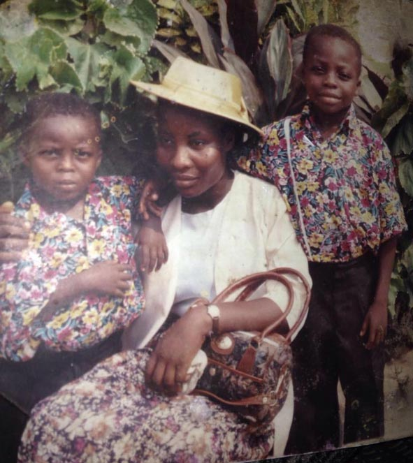 Reekado Banks releases never seen childhood photo with his mum