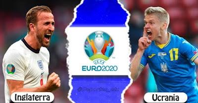 انجلتــرا ضد كرانيـــا يورو 2020 مباراه ربع النهائي