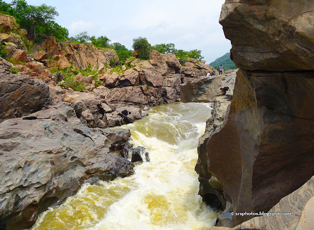 River Flowing through Narrow Passage of Rocks, Mekedatu, Karnataka, Bangalore