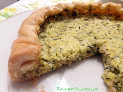 Torta salata con grano cotto e zucchine - Come utilizzare il grano cotto avanzato
