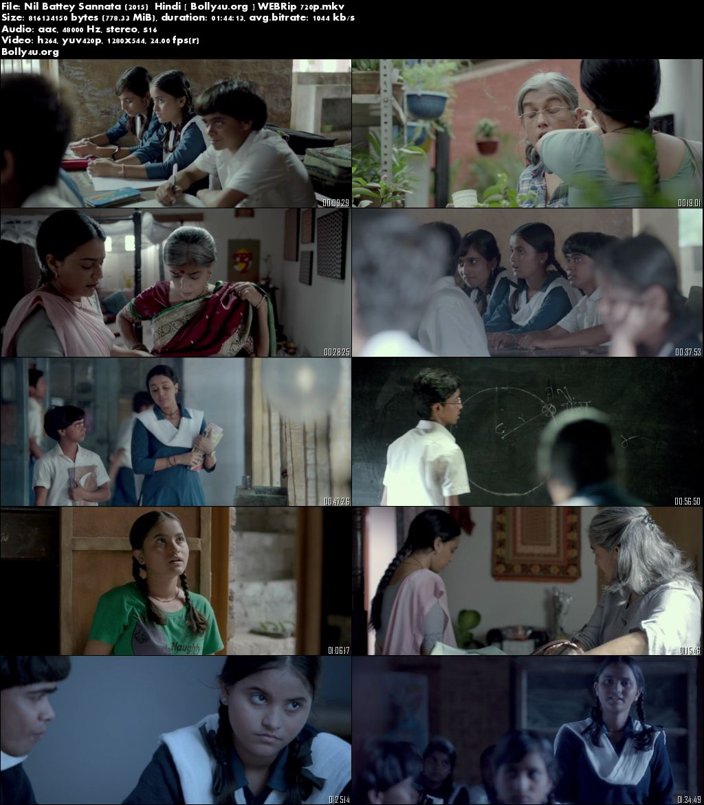 Nil Battey Sannata (2015) WEBRip 800Mb 720p Hindi Download
