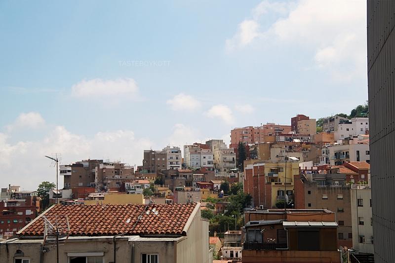 Ausblick über Barcelonas Dächer im Juli // Barcelona roofs - Interrail