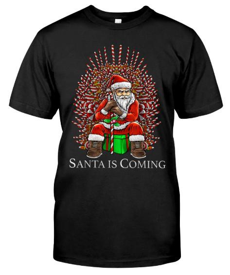 Santa Is Coming Candy Christmas Santa Is Coming T Shirts Hoodie Sweatshirt. GET IT HERE