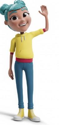 Avatar de StorySign siendo una muñeca con pelo azul