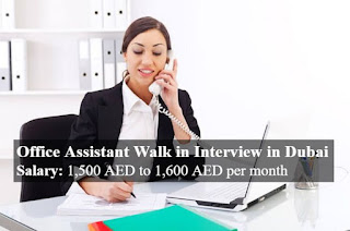 Office Assistant and Office Clerk Job in Dubai