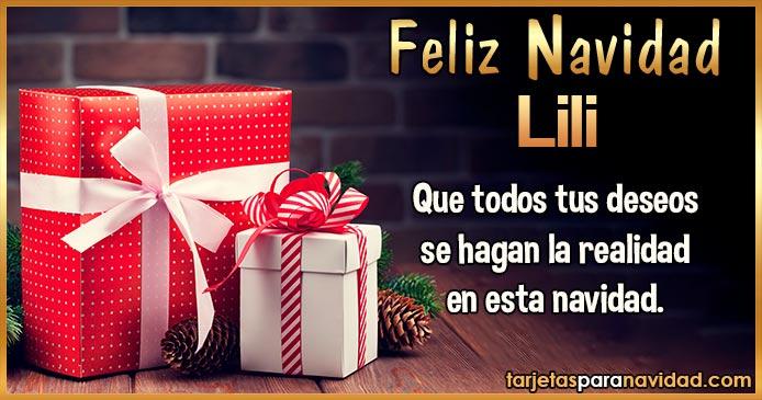 Feliz Navidad Lili