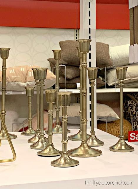 Brass candlesticks at Target