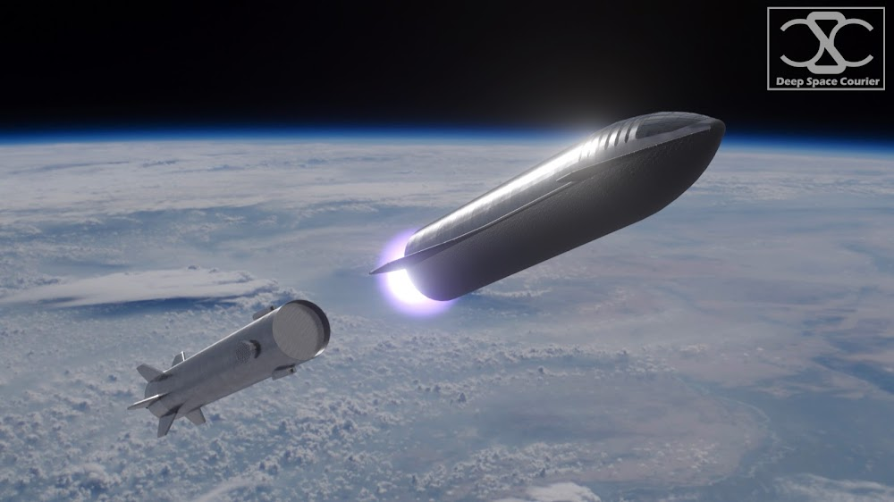 SpaceX Starship Super Heavy stage separation by DeepSpaceCourier