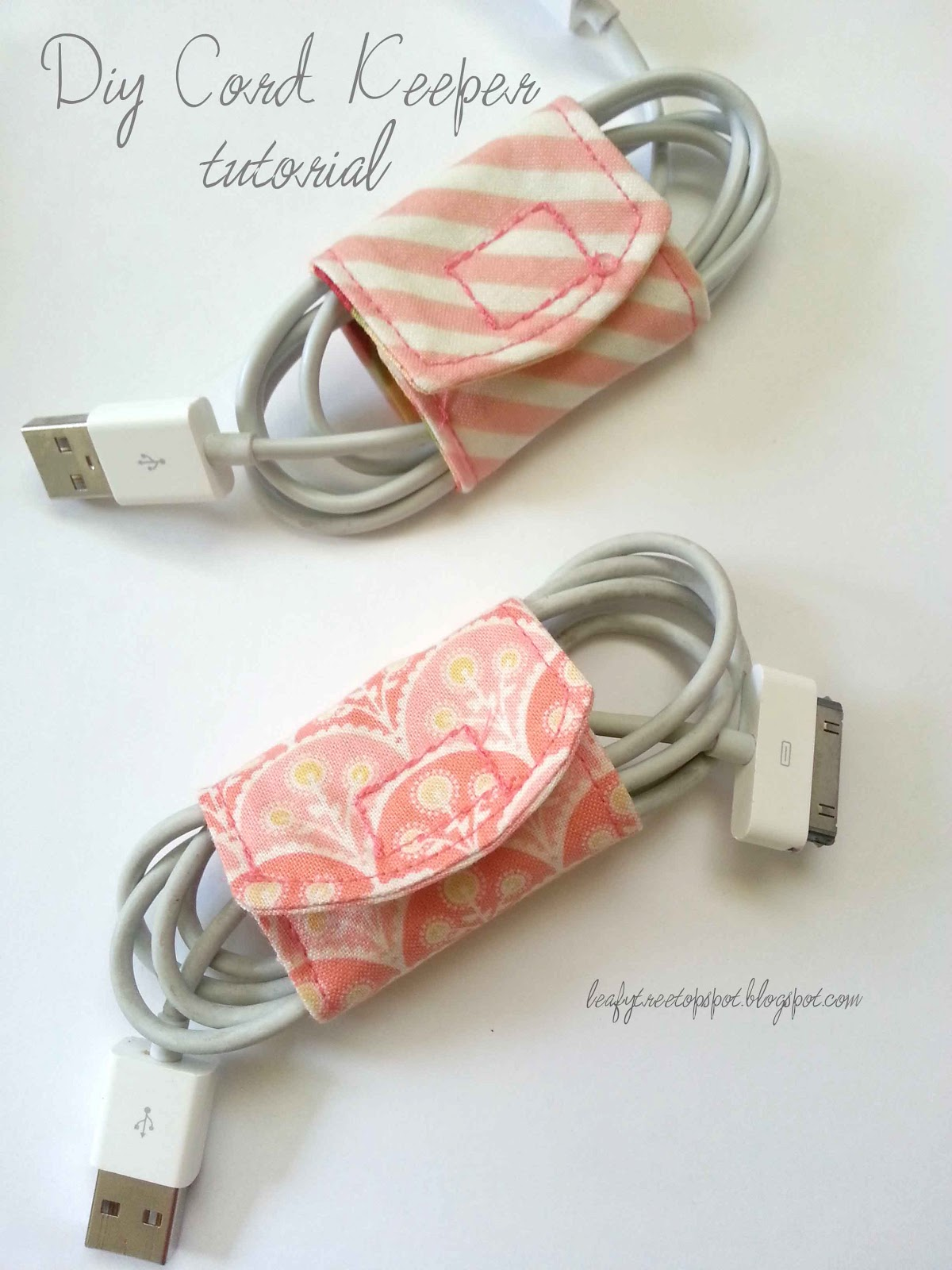 Made by me shared with you tutorial diy cord keeper for Things to make out of a loved one s clothing