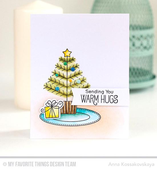 Handmade card from Anna Kossakovskaya featuring Birdie Brown Merry Christmoose stamp set and Birdie Brown Santa's Elves stamp set and Die-namics, Blueprints 27 Die-namics #mftstamps