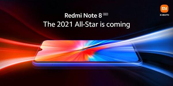 Design do Redmi Note 8 2021 revelado em novo teaser