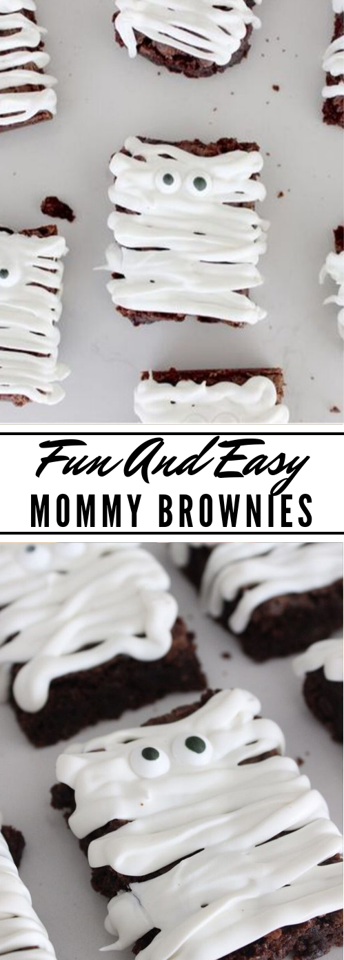 MUMMY HALLOWEEN BROWNIES #desserts #cakes #brownies #pumpkin #halloween