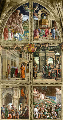Mantegna's Stories of St James was one of the works destroyed