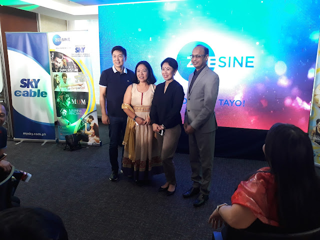 Maria Liza Ginting, Country Head Indonesia and Philippines, Zee Entertainment; Gidgette Faustino, Head of Integrated Marketing, Sky Cable Corp.; Harish Goyal, CEO - Asia Pacific and Africa, Zee Entertainment Enterprises Limited.