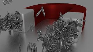 Gambar Magnet menarik Penjepit Kertas