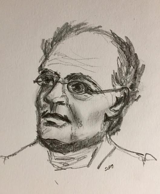 portrait Runeberg Finland drawing SapiDesign