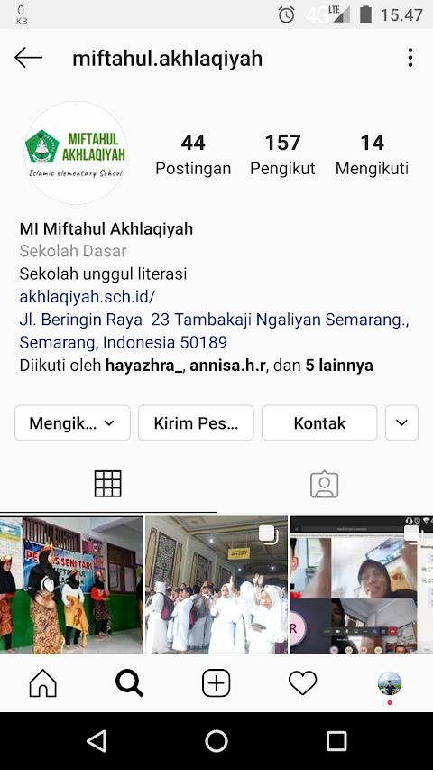 Official Instagram MI Miftahul Akhlaqiyah Beringin Ngaliyan Semarang