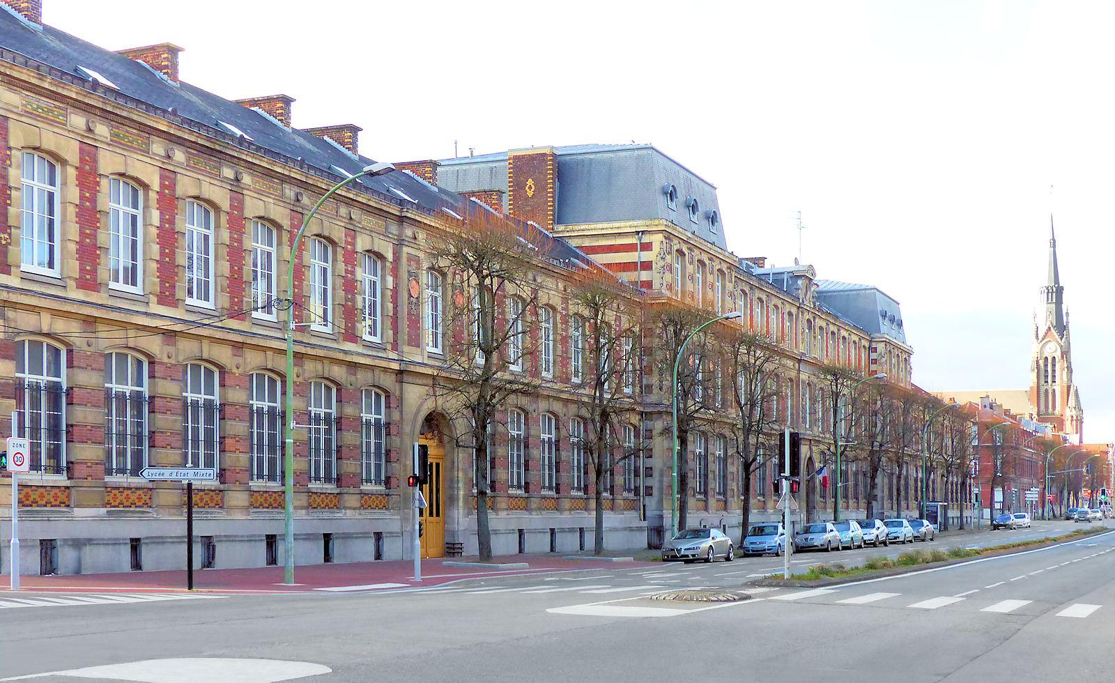 Lycée et Boulevard Gambetta, Tourcoing.