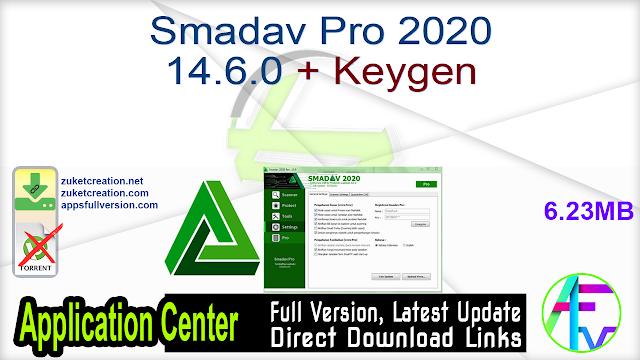 Smadav Pro 2020 14.6.0 + Keygen