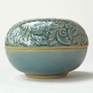 Celadon Ceramic Box from Dogwood Hill Gifts