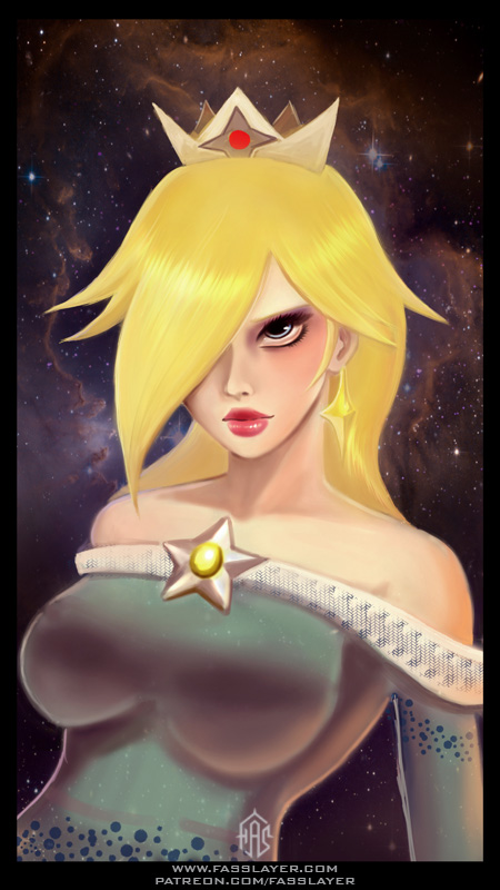 rosalina nintendo fanart illustration