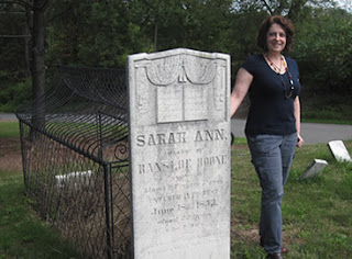 taken at the grave of Sarah Ann Boone in Catawissa, Pennsylvania