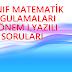 6.sınıf Matematik Uygulamaları 1.yazılı