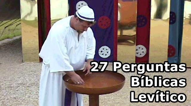 27 Perguntas biblicas com respostas livro de Levitico