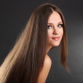 Girl and hair