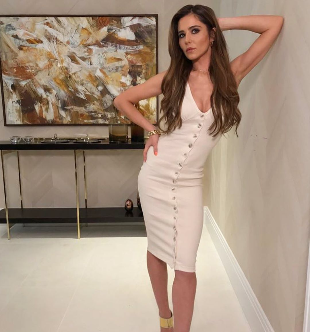 Cheryl shows off curves and cleavage on Instagram