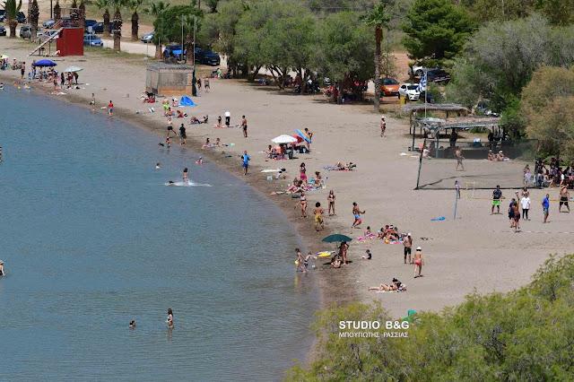 Στα ύψη  η θερμοκρασία στην Αργολίδα - Το Κρανίδι σημείωσε ρεκόρ - Γέμισε τις παραλίες ο κόσμος