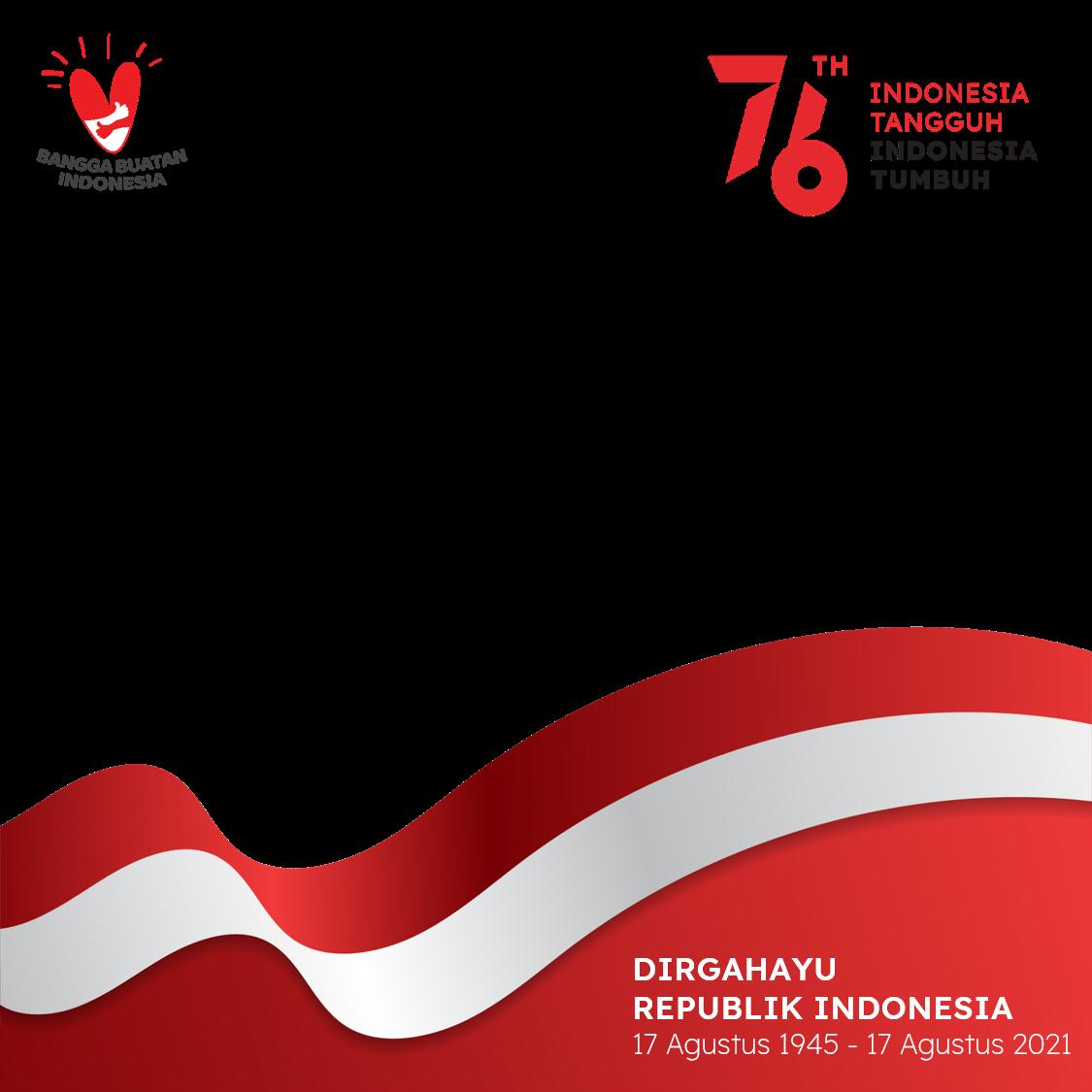 Template Background Frame Twibbon Hari Kemerdekaan 17 Agustus 2021